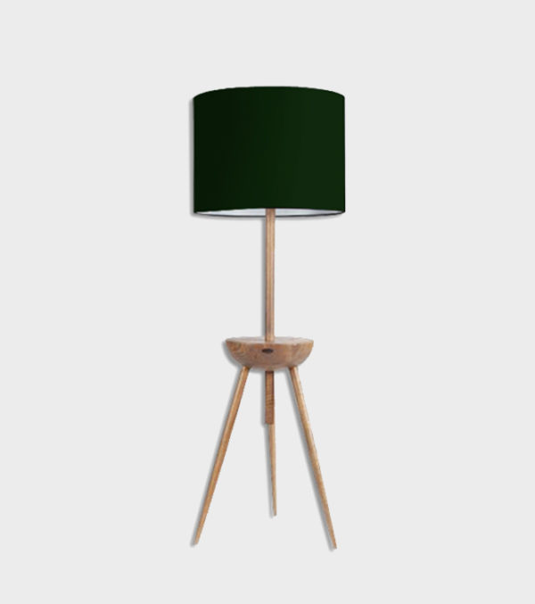 Zor Floor Lamp with Black Shade