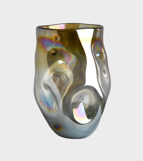 Vase Collision Amber - Large