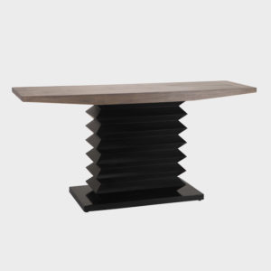 Nolan Wooden Console - Mocca and Black
