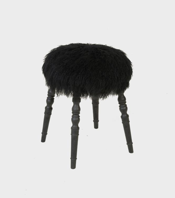 Stool - Lammy Black