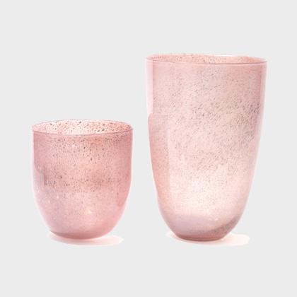 Vase Anton - Aubergine bubble