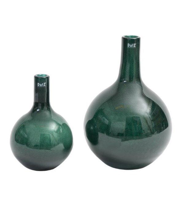 Bottle dark green bubbles