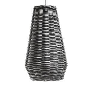 HANGING LAMP HAROLD XLARGE BLACK SQUARE RATTAN