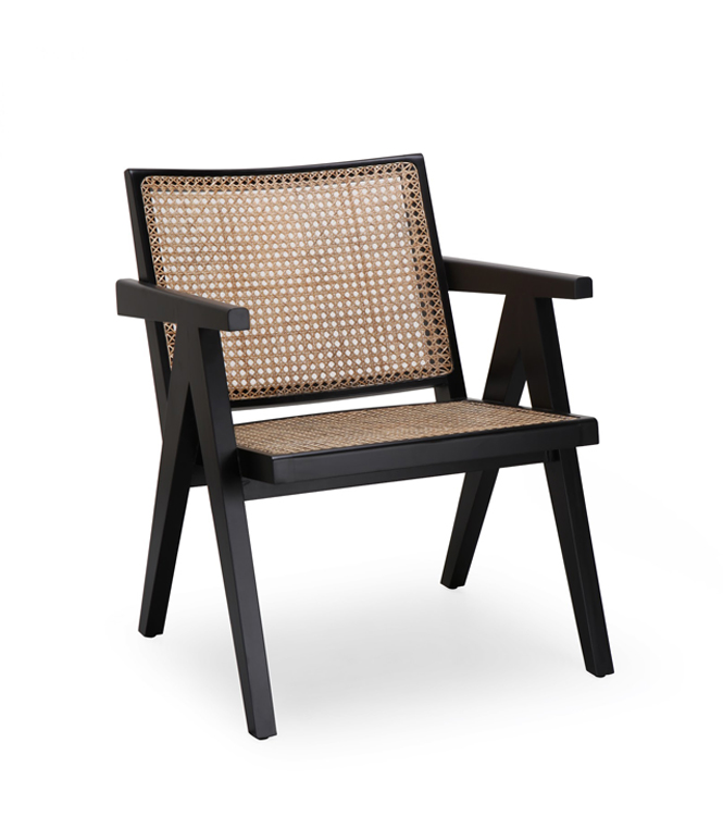 Lombo Chair Black Wash and natural