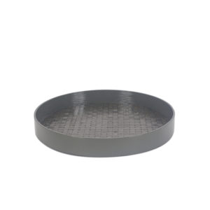 Lacquer Tray ROUND stone grey