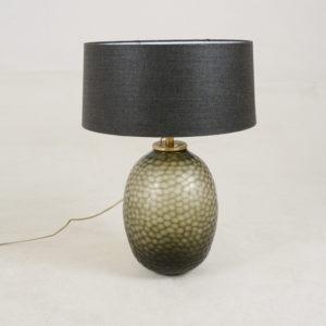 Lampbase-Coco---Smokey WITH Black Shade
