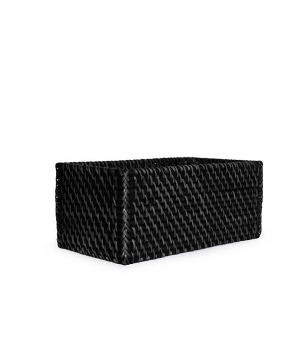 Rattan CD Basket Black