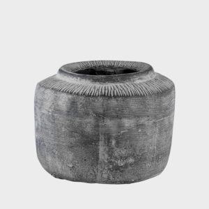 Nuo-grey-Cement-Pot-with-border---Large