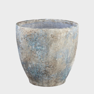 Rossy-blue-ceramic-Pot-round-high---MEDIUM