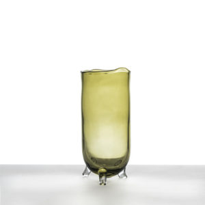 Vase-Figaro-Large---Olive-glass