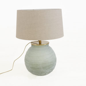 Table-Lamp-Lilly-with-shade-50-45-Storm-gold