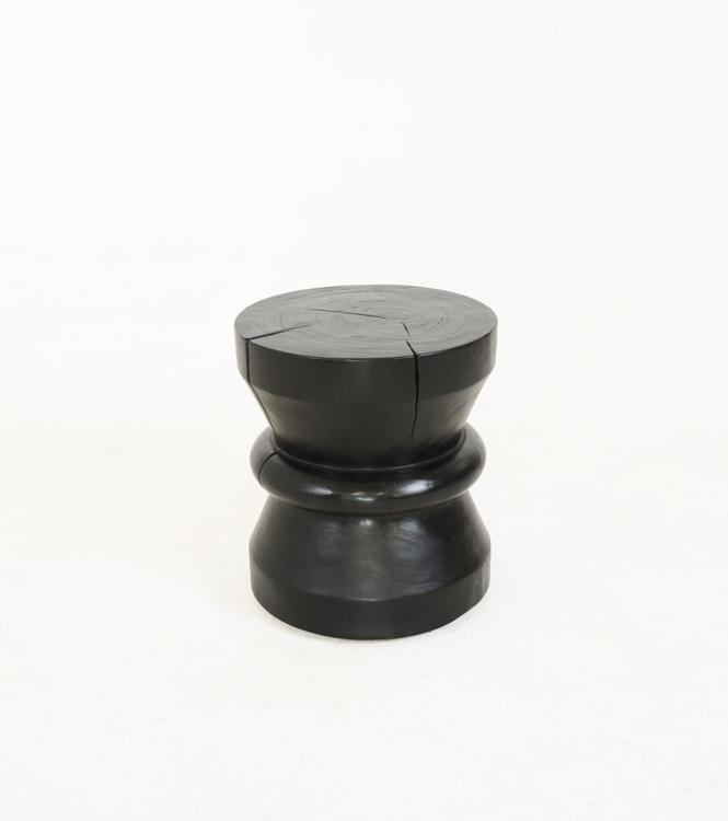 Wooden-Stool-Drum---Black