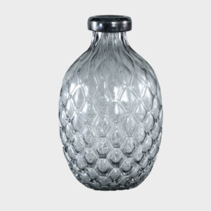 Hugh-Grey-Glass-vase-belly-TALL----LARGE