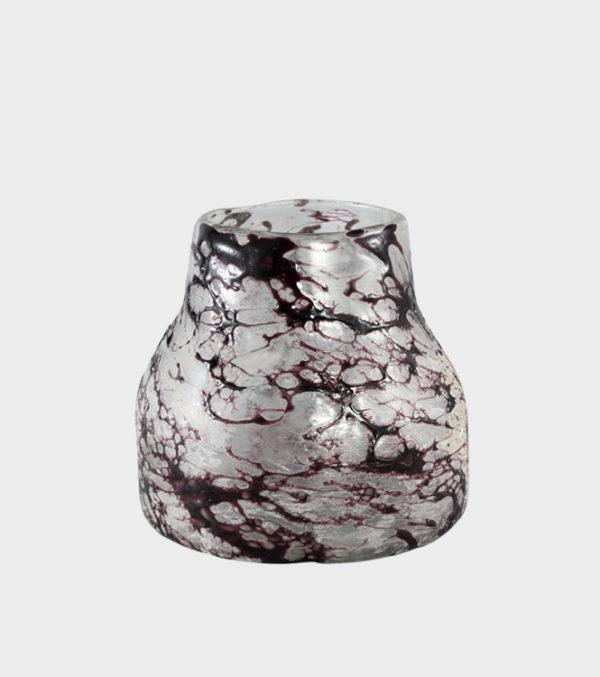 Moize-purple-Glass-vase-round----LARGE