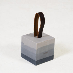 Dominik-Resin-Doorstopper-with-Leather-Handle---Ombre