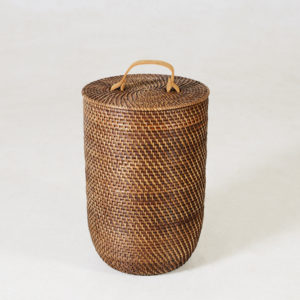 Nagoya-Laundry-Basket---NARROW---Walnut-leather-handle