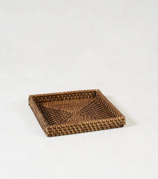 Rattan-Square-Amenity-Tray---Walnut