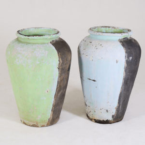 Ceramic-pot---Two-tone-Charcoal-and-Turquoise