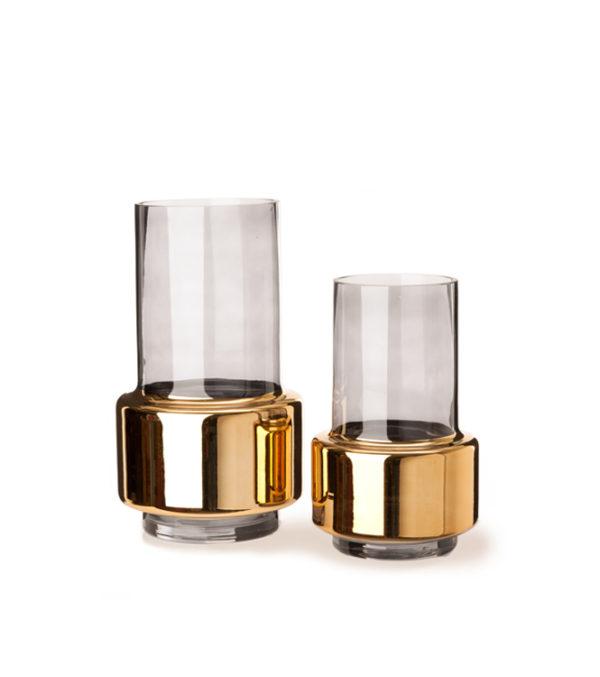 Vase Lobby smoke gold
