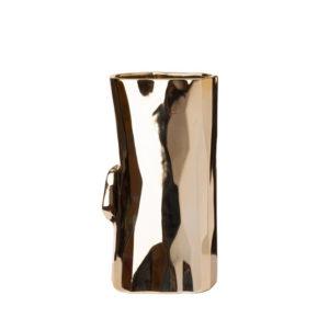 Vase Log Gold - Medium tall