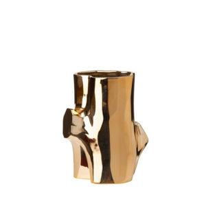 Vase Log Gold - Small short