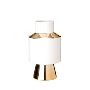 Vase Object white & Gold Small
