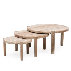 Coffee Table Floor Set3 - Teak - Natural