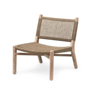 Lounge Chair Fiona - Teak & PE Wicker