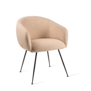 Dining chair Buddy fabric smooth beige