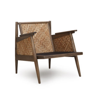 LG Lounge Chair - Mocca with Natural Rattan