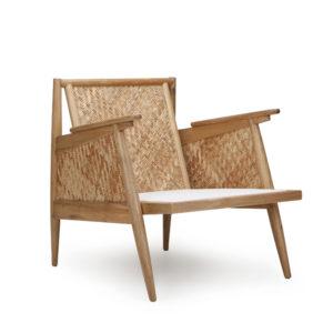 LG Lounge Chair- V-Kroma w Natural Weaving