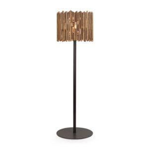 Vasto Floor Lamp with wooden shade