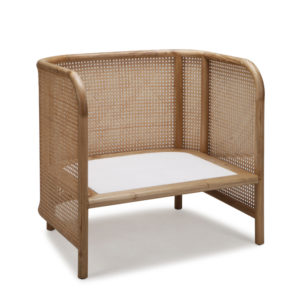 Aaron Tub Chair - Oversize - Kroma with Natural Weaving