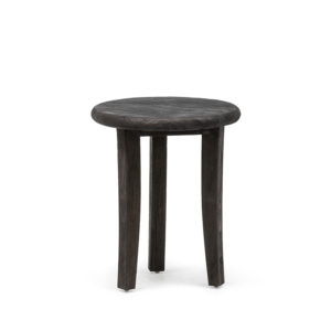 Stool Yannick - Straight leg - Teak Black