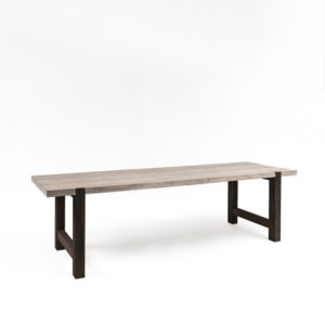 Table Jakob Small - black legs - Teak -Natural - L250cm