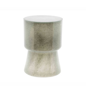 SIDE TABLE GLASS - H42 D31 cm - NEW GREY