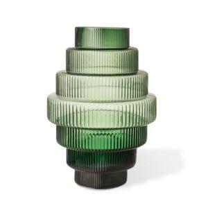 Vase Steps Green Lrg