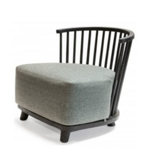 Lounge chair carol Teak black